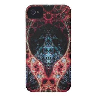Diseño del fractal de Biomechanica 2 Case-Mate iPhone 4 Coberturas