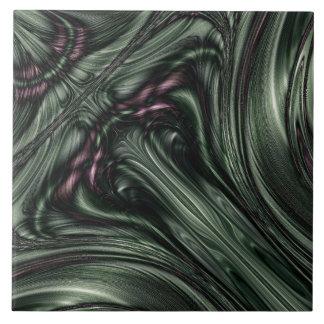 Diseño del fractal de Hexed Digital Azulejo Cuadrado Grande