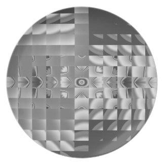 Diseño del fractal de la fábrica plato