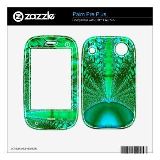 Diseño del fractal de la selva tropical calcomanía para palm pre plus