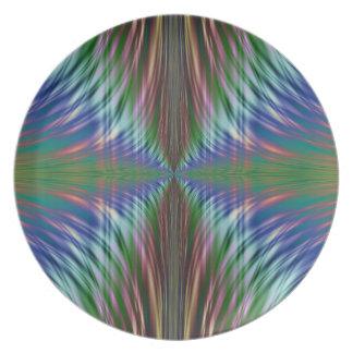 Diseño del fractal de las frondas plato para fiesta