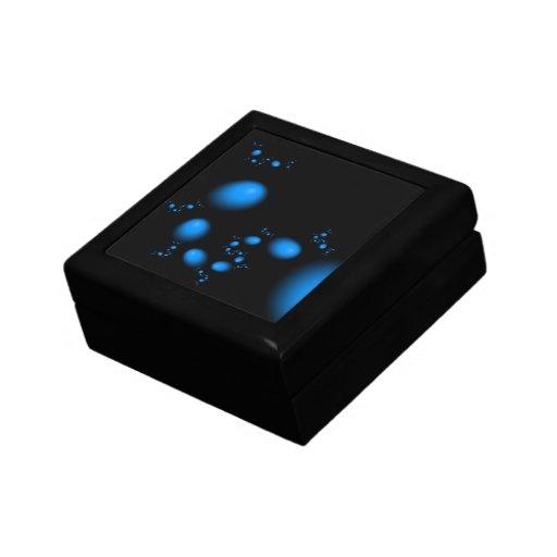 Diseño del fractal de los huevos del azul caja de recuerdo