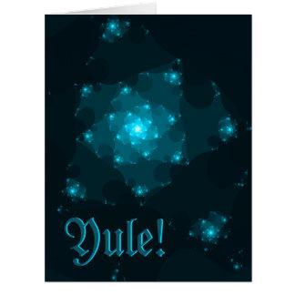 Diseño del fractal de Yule. Azul y negro Tarjeta De Felicitación Grande