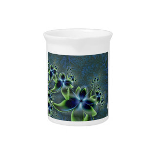 Diseño del fractal del flower power jarra