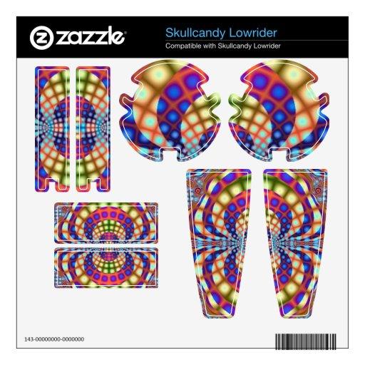 Diseño del fractal del vitral skullcandy lowrider skins