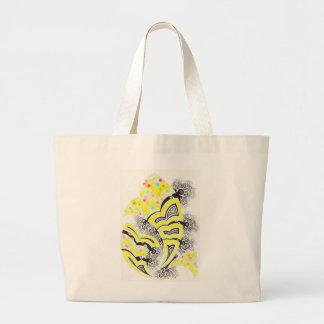 Diseño del fractal-estilo de la primavera bolsa de mano