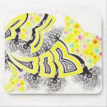 Diseño del fractal-estilo de la primavera tapete de raton