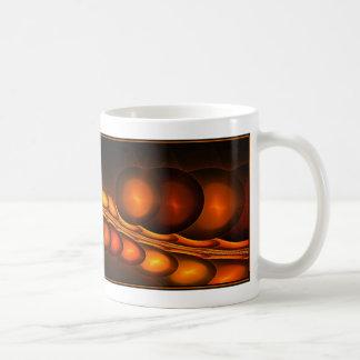 Diseño del fractal (gotas del fractal) en la taza