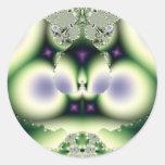 Diseño del fractal pegatina redonda