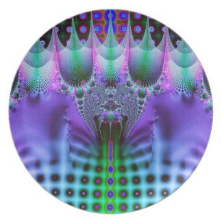 Diseño del fractal platos de comidas