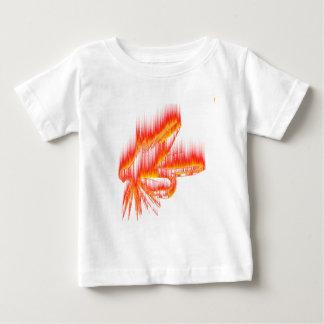 Diseño del fuego de la mosca mojada playera de bebé
