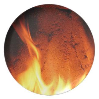diseño del fuego plato para fiesta
