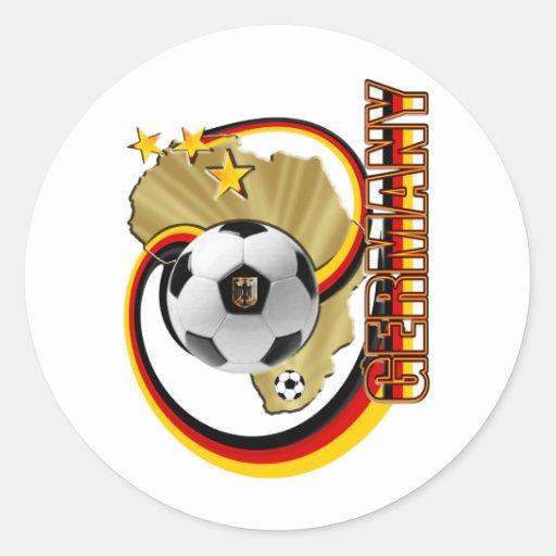 Diseño del fútbol 2010 de las ilustraciones de pegatina redonda