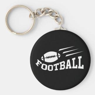 Diseño del fútbol con blanco de la bola que despid llavero redondo tipo pin