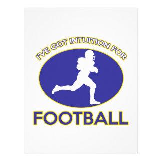 diseño del fútbol de América Membretes Personalizados