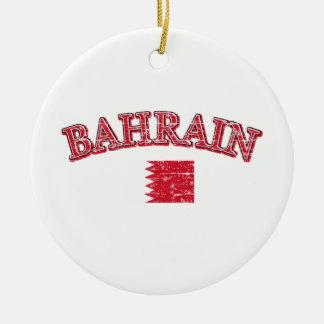 Diseño del fútbol de Bahrein Adorno Navideño Redondo De Cerámica