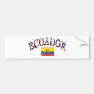 Diseño del fútbol de Ecuador Pegatina Para Auto