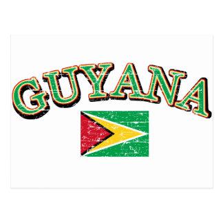 Diseño del fútbol de Guyana Postales