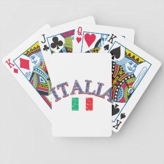 Diseño del fútbol de Italia Barajas De Cartas