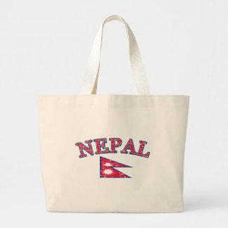 Diseño del fútbol de Nepal Bolsa Tela Grande