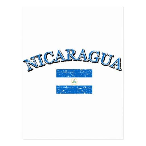 Diseño del fútbol de Nicaragua Tarjetas Postales