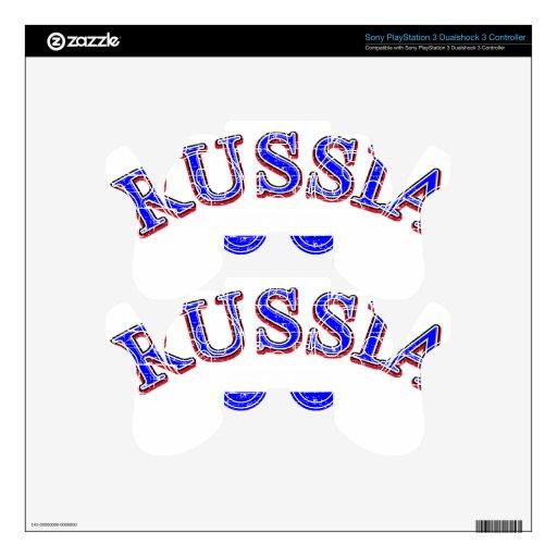 Diseño del fútbol de Rusia Skins Para Mandos PS3