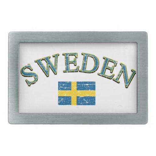 Diseño del fútbol de Suecia Hebillas De Cinturón