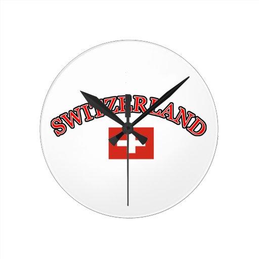 Diseño del fútbol de Suiza Reloj