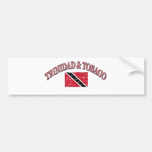 Diseño del fútbol de Trinidad and Tobago Pegatina De Parachoque
