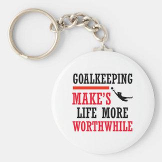 diseño del fútbol del goalkeeping llavero personalizado
