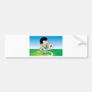 Diseño del fútbol del niño pegatina para auto