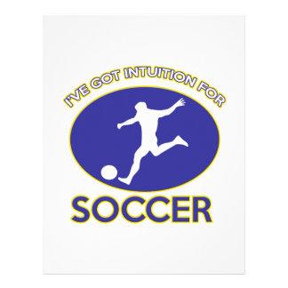 diseño del fútbol membretes personalizados