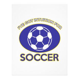diseño del fútbol membrete