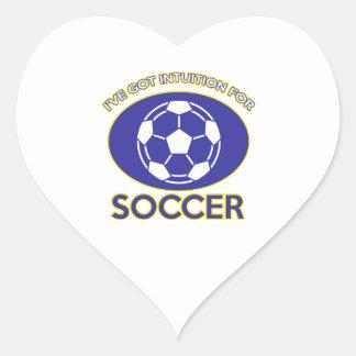 diseño del fútbol pegatina en forma de corazón