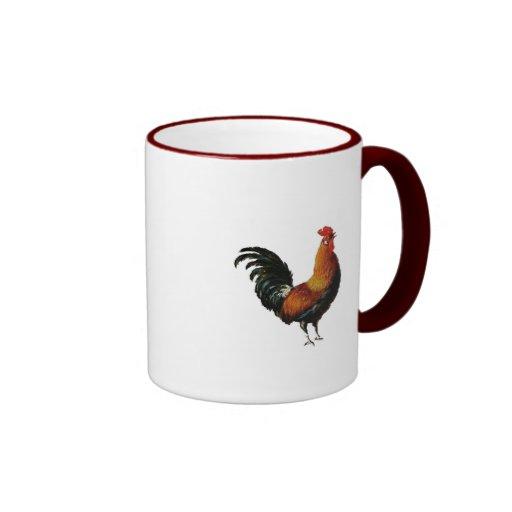 Diseño del gallo taza de dos colores