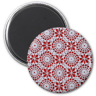 Diseño del ganchillo imán redondo 5 cm