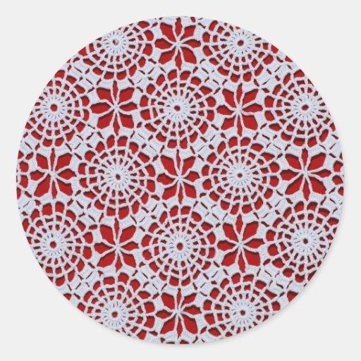 Diseño del ganchillo pegatina redonda