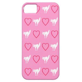Diseño del gato del amor funda para iPhone 5 barely there