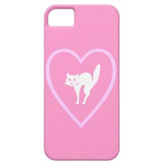 Diseño del gato del amor iPhone 5 fundas