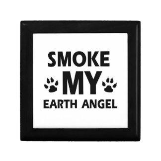diseño del gato del humo caja de regalo