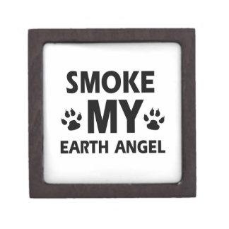 diseño del gato del humo caja de regalo de calidad