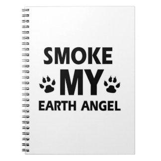 diseño del gato del humo cuadernos