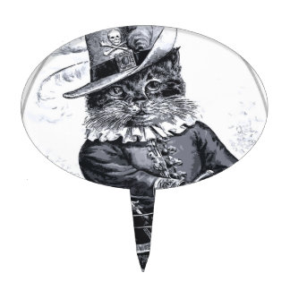 Diseño del gato del pirata figuras de tarta