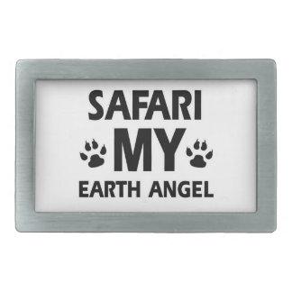 diseño del gato del safari hebilla cinturon rectangular