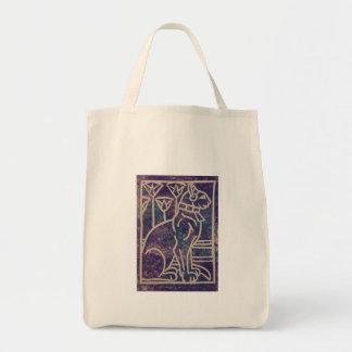 Diseño del gato egipcio bolsa tela para la compra
