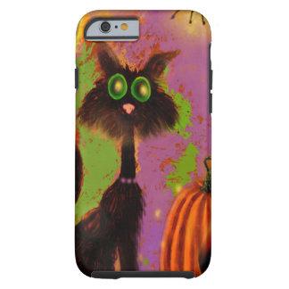 Diseño del gato negro de Halloween Funda Para iPhone 6 Tough
