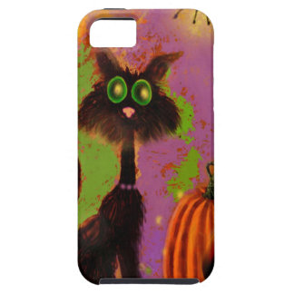 Diseño del gato negro de Halloween iPhone 5 Funda