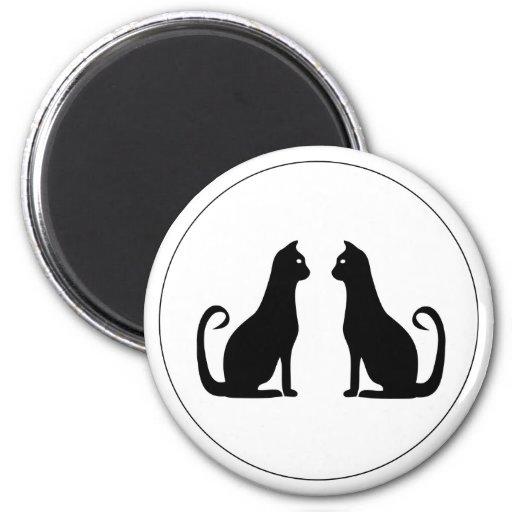 Diseño del gato negro iman para frigorífico