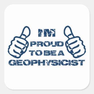 Diseño del geofísico pegatina cuadrada