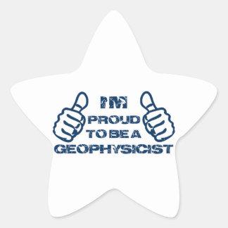 Diseño del geofísico pegatina en forma de estrella